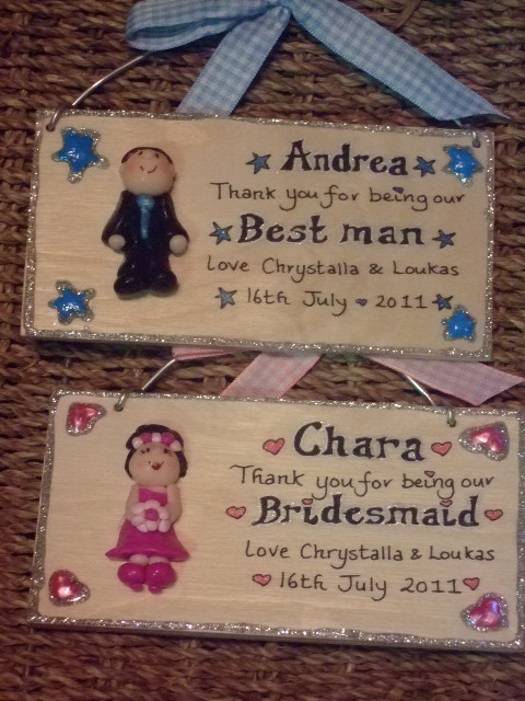 3d Personalised Pageboy Ringbearer Bestman Dad Thank You Unique